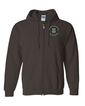 12th Special Forces Group  Embroidered Hooded Sweatshirt with Zipper (C)