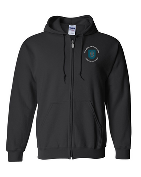 19th Special Forces Group  Embroidered Hooded Sweatshirt with Zipper (C)
