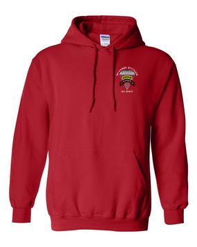 3-75th Ranger Battalion w/ Ranger Tab Embroidered Hooded Sweatshirt (C)
