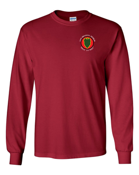 24th Infantry Division Long-Sleeve Cotton Shirt (C)