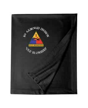 1st Armored Division Embroidered Dryblend Stadium Blanket (C)