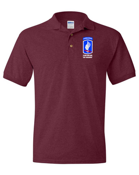 "173rd ""Sky Soldiers"" Embroidered Cotton Polo Shirt"