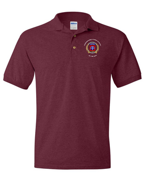 "82nd Airborne ""100th Anniversary"" Embroidered Cotton Polo Shirt"