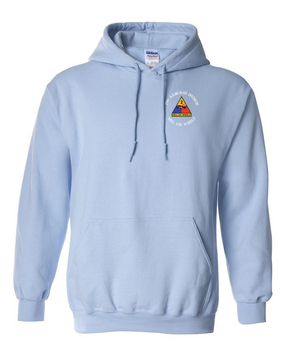 2nd Armored Division Embroidered Hooded Sweatshirt (C)