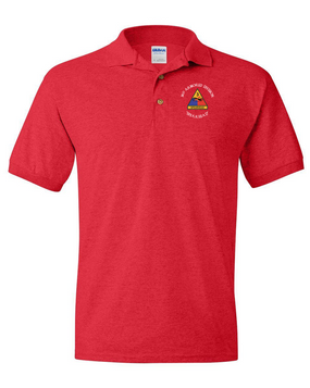 3rd Armored Division Embroidered Cotton Polo Shirt (C)