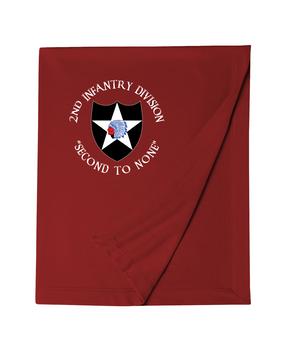 2nd Infantry Division Embroidered Dryblend Stadium Blanket (C)