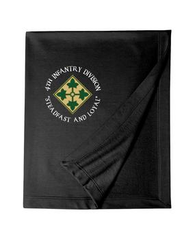 4th Infantry Division Embroidered Dryblend Stadium Blanket (C)