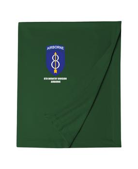 8th Infantry Division Airborne  Embroidered Dryblend Stadium Blanket