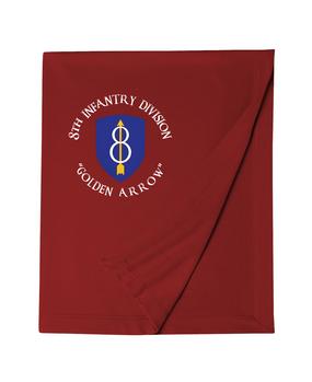8th Infantry Division Embroidered Dryblend Stadium Blanket (C)