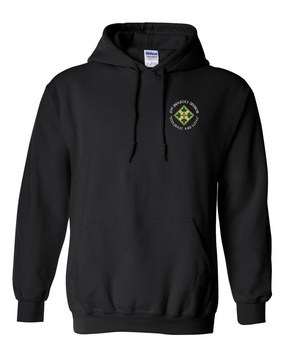 4th Infantry Division Embroidered Hooded Sweatshirt (C)