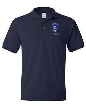 8th Infantry Division Airborne Embroidered Cotton Polo Shirt