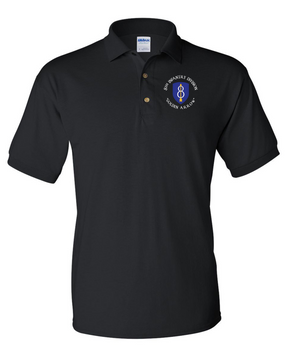 8th Infantry Division Embroidered Cotton Polo Shirt (C)