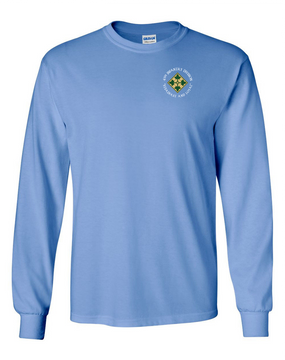 4th Infantry Division Long-Sleeve Cotton Shirt (C) -Pocket