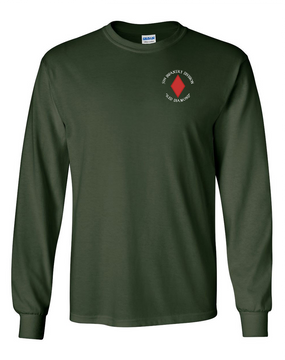 5th Infantry Division Long-Sleeve Cotton Shirt (C) -Pocket