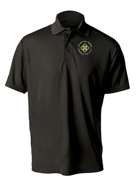 4th Infantry Division Embroidered Moisture Wick Polo (C)