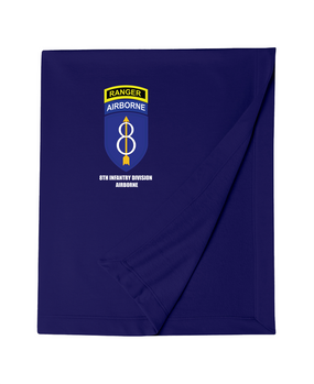 8th Infantry Division Airborne w/ Ranger Tab Embroidered Dryblend Stadium Blanket