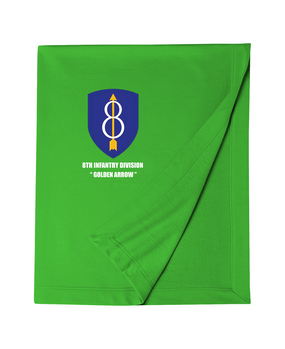 8th Infantry Division Embroidered Dryblend Stadium Blanket