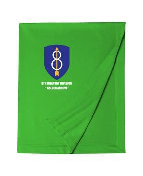 8th Infantry Division Embroidered Dryblend Stadium Blanket