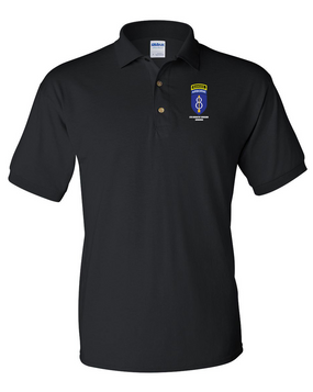 8th Infantry Division Airborne w/ Ranger Tab Embroidered Cotton Polo Shirt