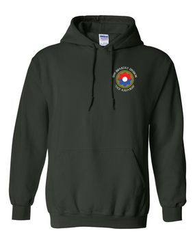 9th Infantry Division Embroidered Hooded Sweatshirt  (C)