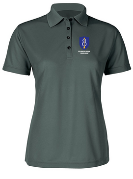 Ladies 8th Infantry Division Embroidered Moisture Wick Polo Shirt
