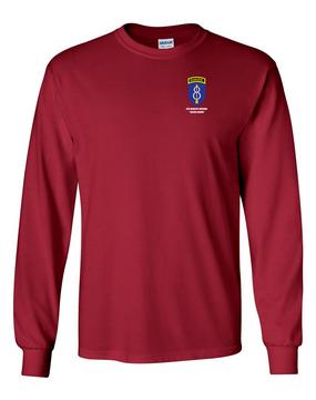 8th Infantry Division w/ Ranger Tab Long-Sleeve Cotton Shirt  -Pocket