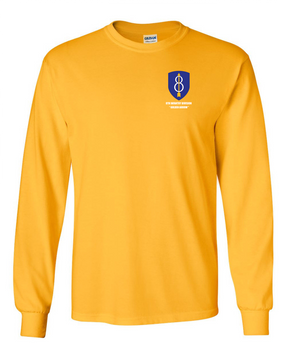 8th Infantry Division Long-Sleeve Cotton Shirt  -Pocket
