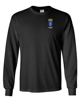 8th Infantry Division Airborne w/ Ranger Tab Long-Sleeve Cotton Shirt  -Pocket
