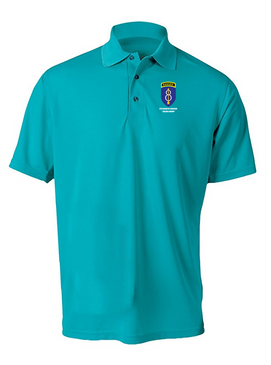8th Infantry Division w/ Ranger Tab Embroidered Moisture Wick Polo