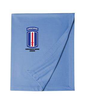 193rd Infantry Brigade Airborne Embroidered Dryblend Stadium Blanket