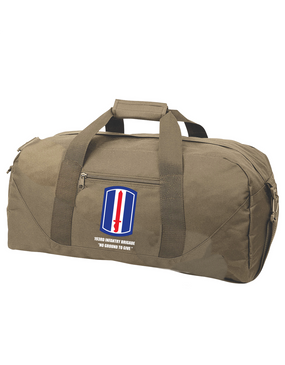 193rd Infantry Brigade  Embroidered Duffel Bag