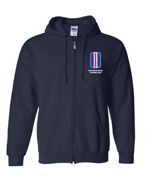 193rd Infantry Brigade  Embroidered Hooded Sweatshirt with Zipper