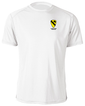 1st Cavalry Division Moisture Wick Shirt  -Pocket