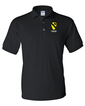 1st Cavalry Division Embroidered Cotton Polo Shirt