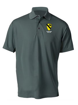 1st Cavalry Division Embroidered Moisture Wick Polo