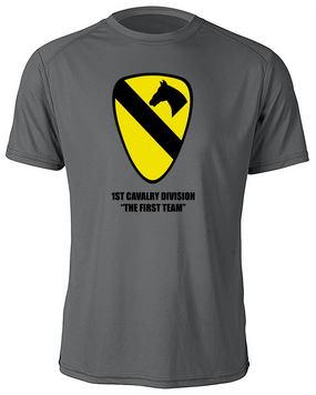 1st Cavalry Division Moisture Wick Shirt  -Chest