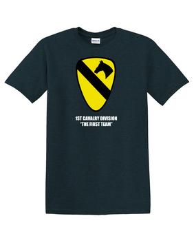 1st Cavalry Division Cotton T-Shirt -Chest