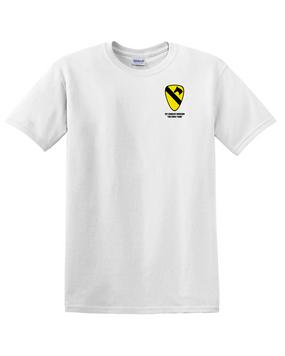 1st Cavalry Division Cotton T-Shirt -Pocket