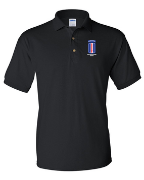 193rd Infantry Brigade Airborne Embroidered Cotton Polo Shirt