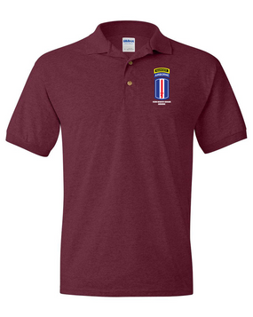 193rd Infantry Brigade Airborne w/ Ranger Tab Embroidered Cotton Polo Shirt