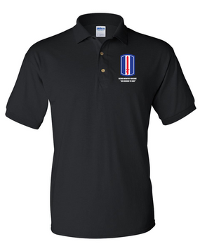 193rd Infantry Brigade  Embroidered Cotton Polo Shirt