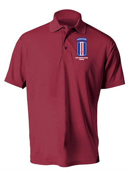 193rd Infantry Brigade Airborne Embroidered Moisture Wick Polo