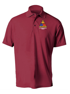 49th Armored Division Embroidered Moisture Wick Polo