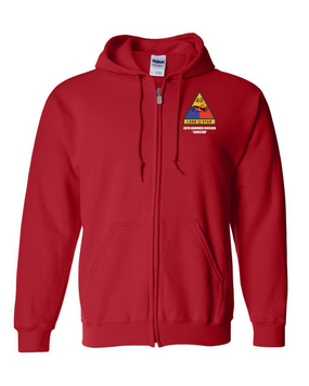 49th Armored Division  Embroidered Hooded Sweatshirt with Zipper