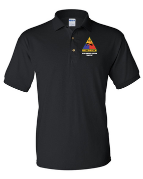 49th Armored Division Regiment Embroidered Cotton Polo Shirt