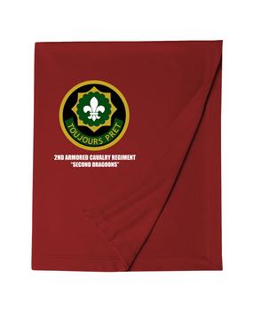 2nd Armored Cavalry Regiment Embroidered Dryblend Stadium Blanket