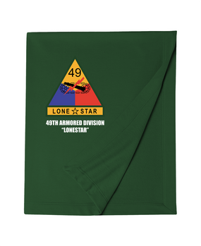 49th Armored Division Embroidered Dryblend Stadium Blanket