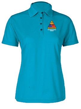 Ladies 49th Armored Division Embroidered Moisture Wick Polo Shirt