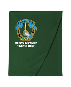 7th Cavalry Regiment Embroidered Dryblend Stadium Blanket