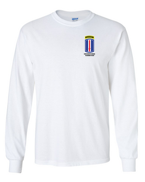 193rd Infantry Brigade w/ Ranger Tab Long-Sleeve Cotton Shirt